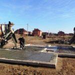 заливка бетона монолитной плиты